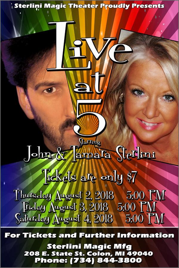 Live at 5 with John & Tamara Sterlini